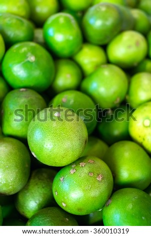 green limes in a large number