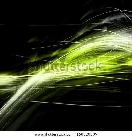 Green Lines Energy Background - stock photo