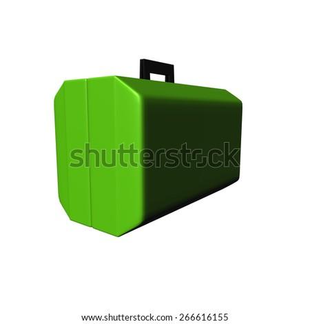 Green Luggage - stock photo