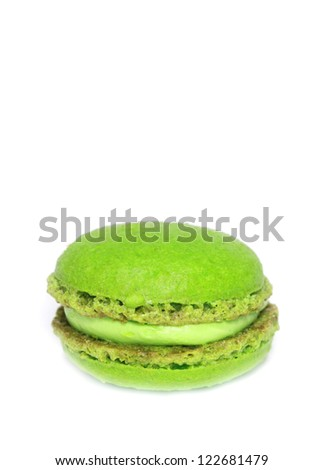 green macaroons - stock photo