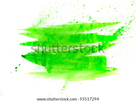 green macro spot blotch texture isolated on a white background - stock photo