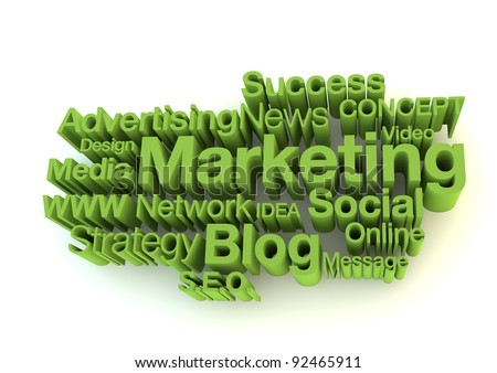 Green marketing words - stock photo