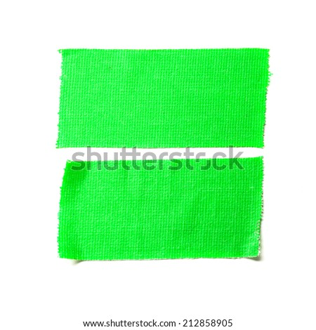 Green matte cloth tape isolated on white - stock photo