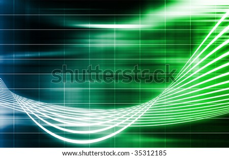 Green Medical Science Technology as a Art - stock photo