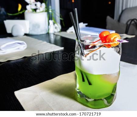 green melon cocktail - stock photo