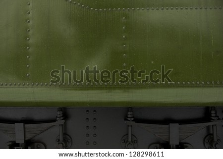 Green Metal Background ( Steam Locomotive Element ).