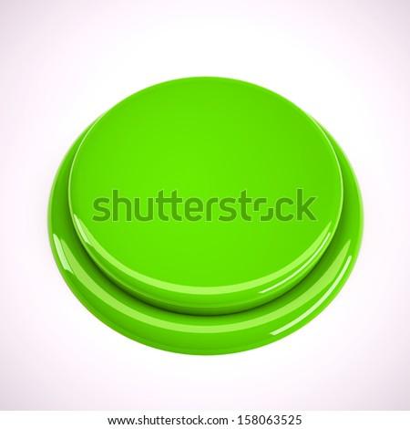 green metal button  - stock photo