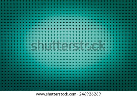 Green metal hole sheet texture closeup  background