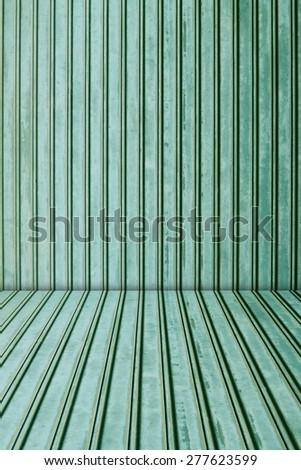 Green metal sheet background. - stock photo