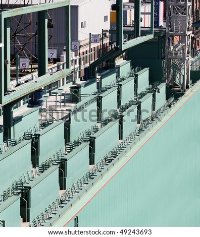 green monster seating at fenway park - stock photo