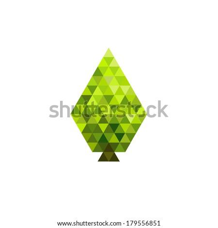 Green mosaic leaf design - stock photo