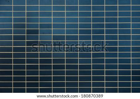 green mosaic tile texture - stock photo