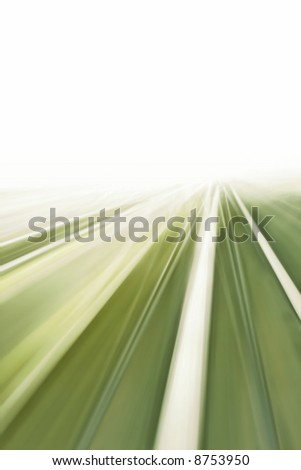 Green Motion Airport Transit - stock photo
