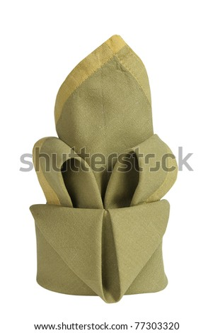 green napkin - stock photo
