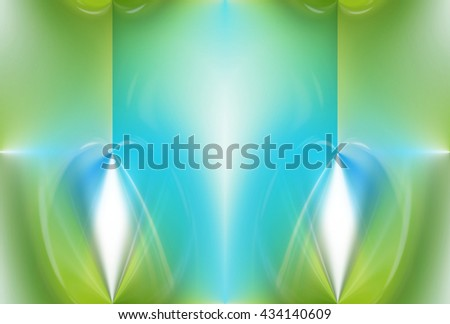 green nature flower eco color background