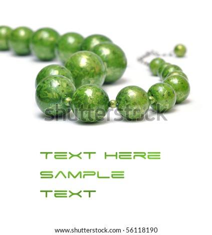 green necklaces - stock photo