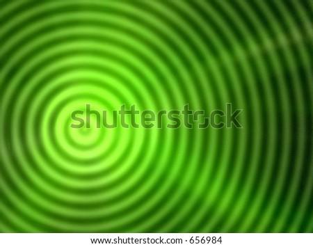 Green neon light Blast - stock photo