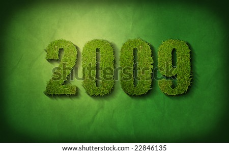 green new year - stock photo