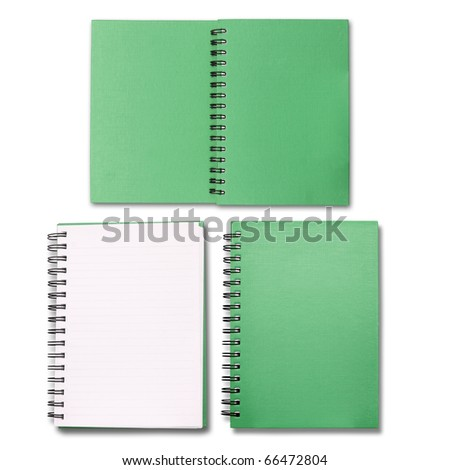 Green note book collection - stock photo