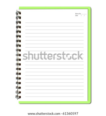 Green notebook (blank paper)
