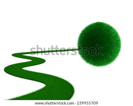 green objectives  - stock photo
