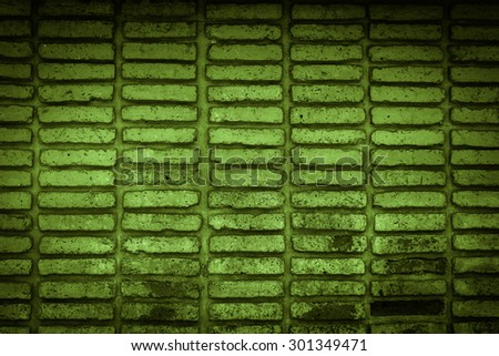 green old brick wall texture background - stock photo