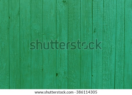 Green old fence texture. Background and texture. - stock photo