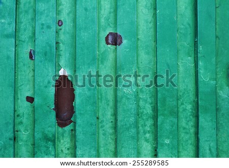 Green old grungy metal surface - background - texture
