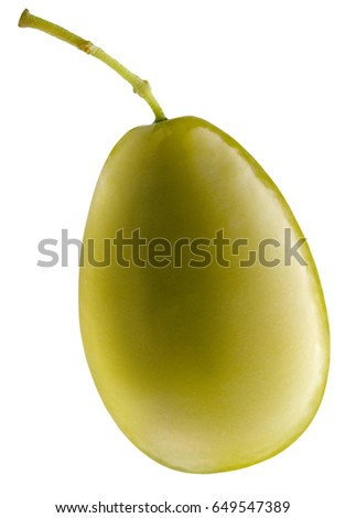 green olive isolated on a white background