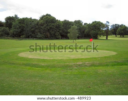 Green on a golf course - stock photo