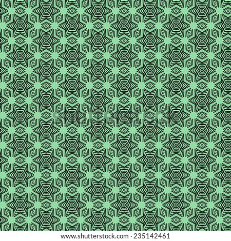 green on black abstract geometric  pattern