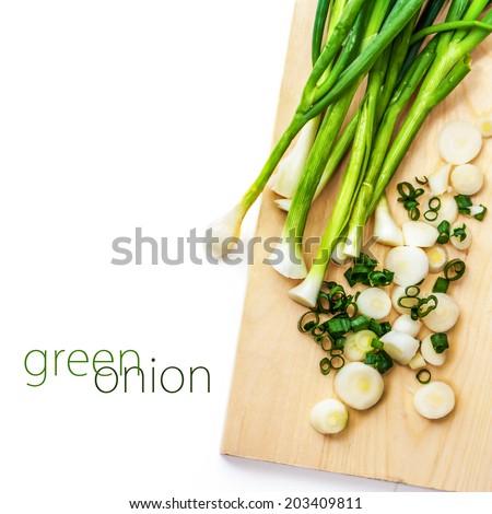Green Onion - stock photo