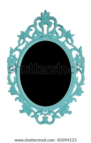 green ornate vintage photo frame - stock photo