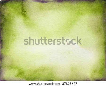 green paint background border - stock photo