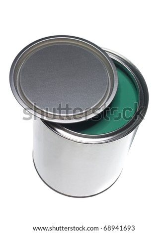 Green Paint can isolated on white background