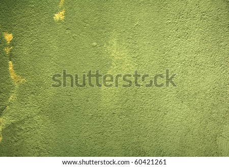 green paint wall - stock photo