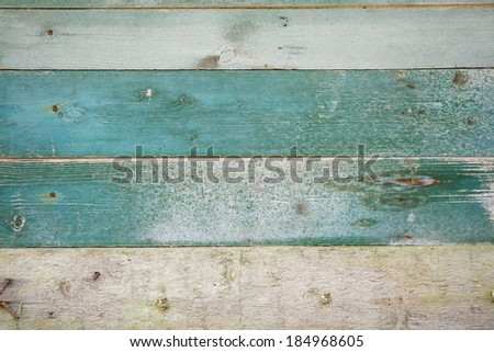 Green Painted Wood Planks as Background or Texture, Natural Pattern - stock photo