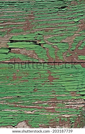 Green Painted Wood Texture For your design. - stock photo