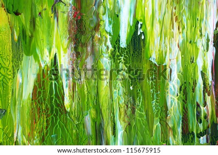 Green painting texture - stock photo