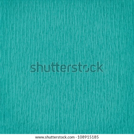Green paper background with pattern. Handmade paper - stock photo