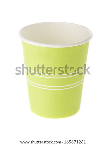 Green paper cup