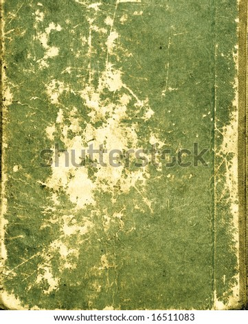 Green paper texture with grunge scratch - stock photo