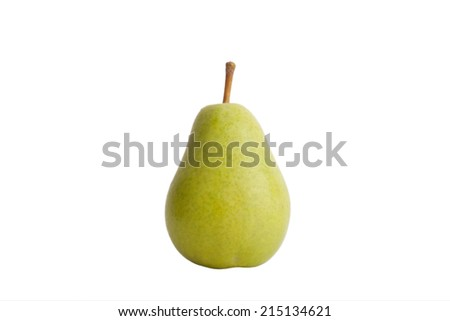 green pear isolated on a white background - stock photo