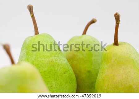 Green Pears in Studio