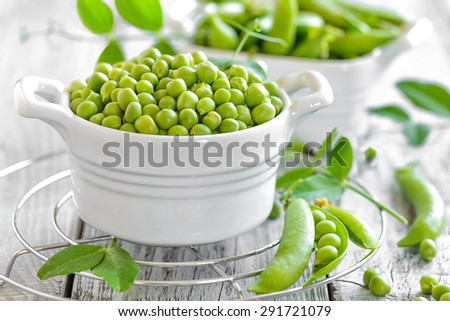 green peas - stock photo