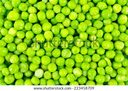 Green peas photographed closely. Hranirelen product used in cooking. - stock photo