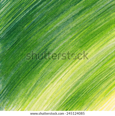 Green pencil background - stock photo