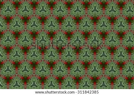 Green Picture  fantasy with elements of red. 1
