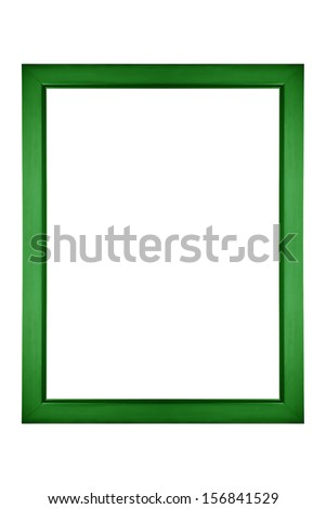Green picture frame isolated - stock photo