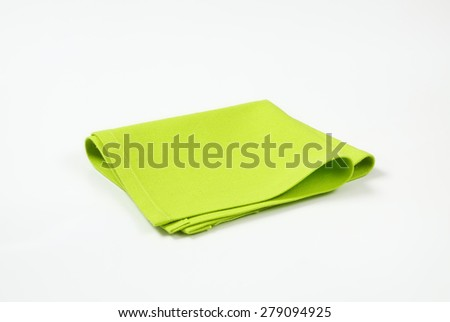 green place mat on white background - stock photo